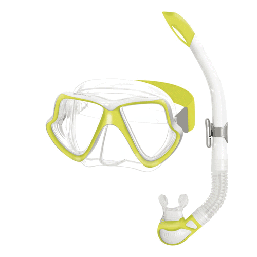 Mares Wahoo Adult Mask and Snorkel Set Yellow