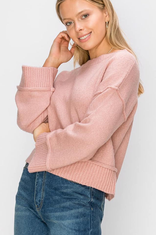 Dusty Pink Crewneck Sweater
