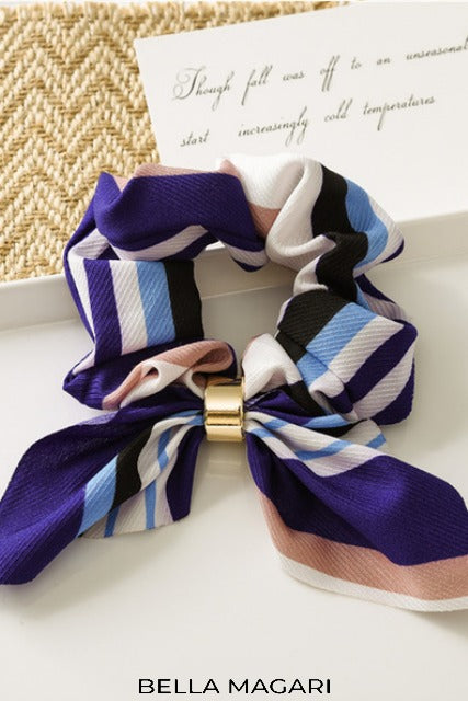 Multicolor Striped Scrunchie