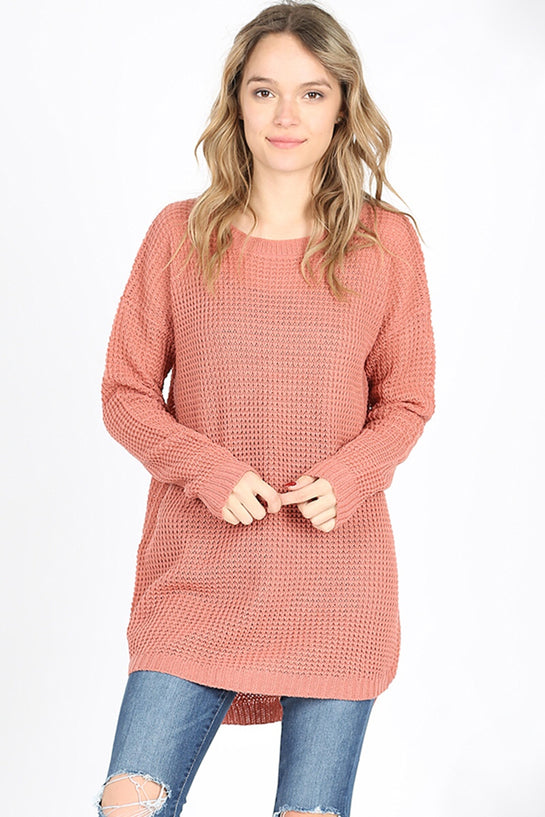 Dusty Rose Knit Sweater