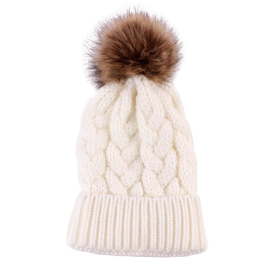 Winter White Knit Beanie