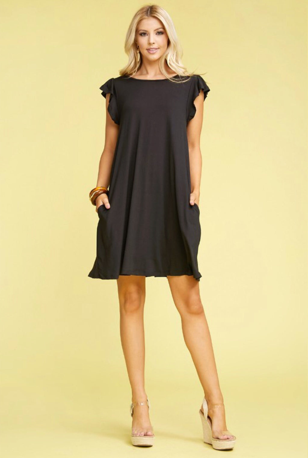 Ruffle Pocket Dress