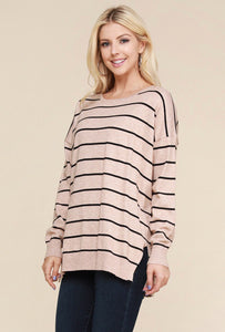 Striped Oatmeal Sweater