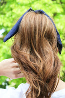 Navy Hair Scarf + Scrunchie