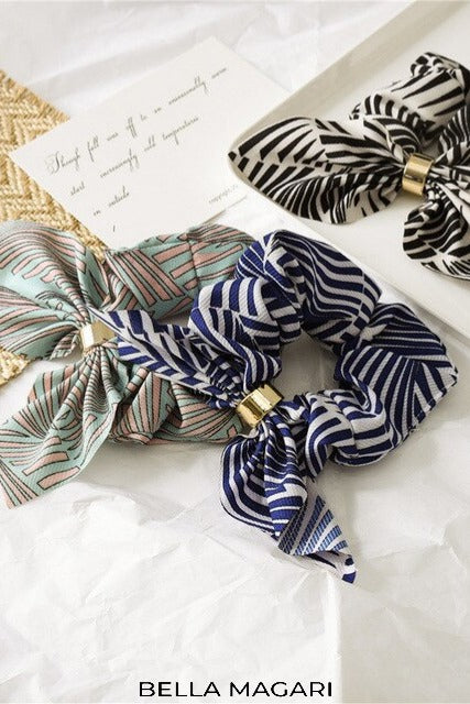 Multi Color Zebra Scrunchie
