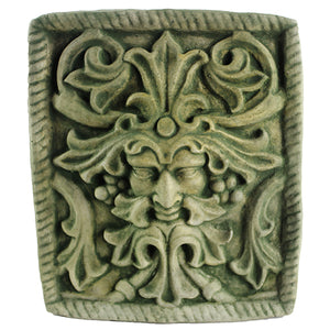 Green Man Concrete Wall Plaque