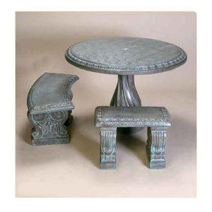 Cement traditional table set