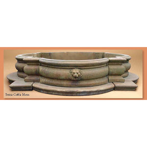 Lion Copings 16 pieces for Huge Fountain, 11 feet W x 25 inches H