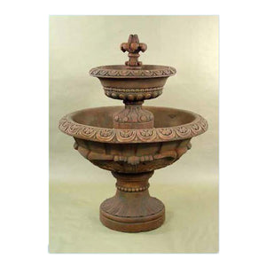 Etruscan Garden Fountain, 60 inches H x 49 inches W, Base: 22 inches