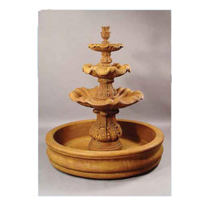 Santa Margherita Water Fountain, 68 inches H x 60 inches W