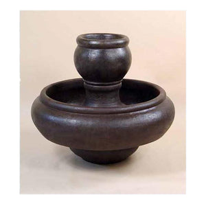 Santa Fe Garden Fountain, 35.5 inches H x 40 inches W, Base: 21 inches