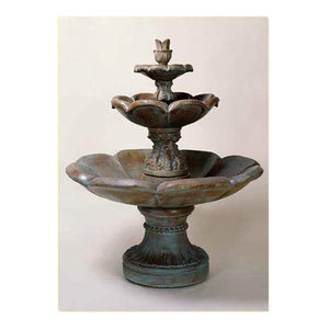cement 3 tier water fountain for sale