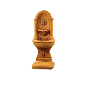 Colosseo Garden Wall Fountain, 63.5 inches H x 26 inches W x 19 inches D, Base: 24.5 inches W x 15.5 inches D