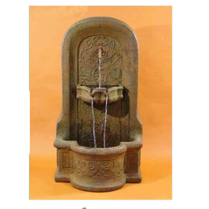 New Medici Garden Water Wall Fountain,  54.5 inches H x 30 inches W x 23 inches D