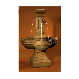 Navona Garden Fountain with Spouts, 67 inches H x 47 inches W Base: 23 sq FREE SHIPPING