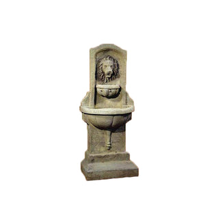 small concrete Italian wall fountain for sale