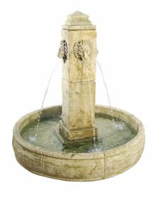 Piazza Garden Fountain,  51 inches D x 51 inches W x 51 inches H FREE SHIPPING