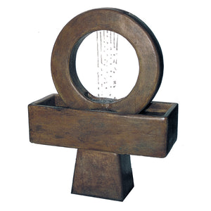 Portal Ring Water Fountain, 53 inches H x 40 inches W x 19 inches D