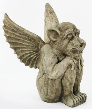 Winged Dog Gargoyle Statue, 17 inches H x 11 inches W, FREE SHIPPING