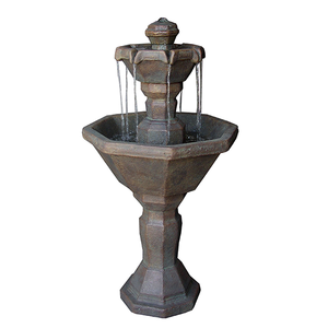 cement two tier garden fountain for sale