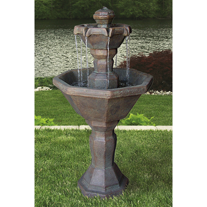 cement 2 tier garden fountain for sale
