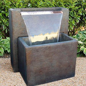 New Meridian Wall Fountain, 31 inches H x 28 inches W x 22 inches D FREE SHIPPING