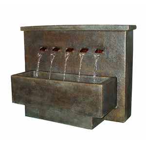 fountain with copper spillways