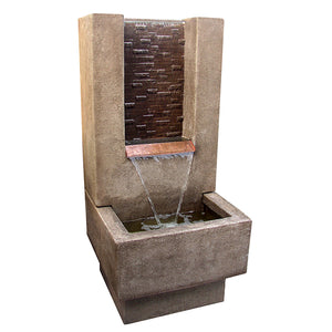Malibu Garden Water Fountain, 48 inches H x 22 inches W x 22 inches D