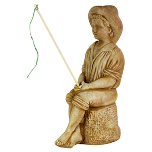 Axel The Fishing Boy Statue  17 inches H x 9 inches D x 7 inches W, FREE SHIPPING