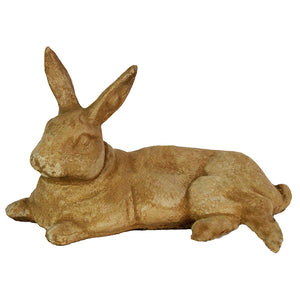 Big Laying Rabbit Concrete Statue, 7.5 inches H x 13 inches L x 8 inches W  Weight: 11 lbs,  FREE SHIPPING