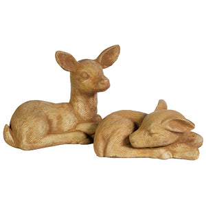 Deer Pair Statues,  8.5 Inches L X 5.5 Inches W X 4 Inches H and 11 Inches L X 5 Inches W X 8 Inches H, FREE SHIPPING