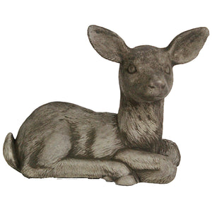 Sitting Deer Statue, 11 Inches L X 5 Inches W X 8 Inches H, FREE SHIPPING