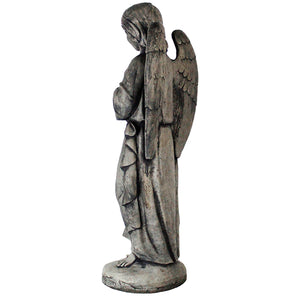 Big Guardian Angel Statue, 27 inches H x 10.5 inches W x 8 inches D