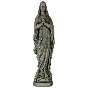 Lady of Lourdes Statue, 26 inches H x 7 inches W x 6 inches D