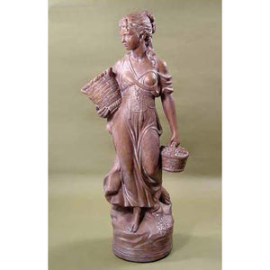 Paesanella Lady Garden Concrete Sculpture FREE SHIPPING