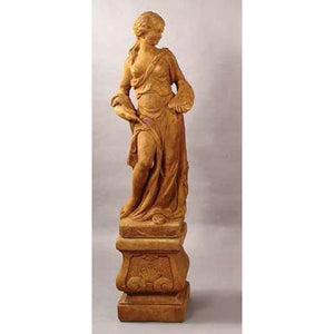 Muse of Painting Garden Statue with Pedestal FREE SHIPPING