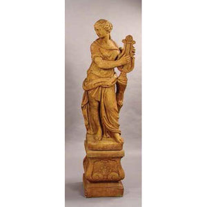 Muse of Music Garden Statue with Pedestal FREE SHIPPING