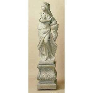 Winter Season Garden Statue with Pedestal FREE SHIPPING