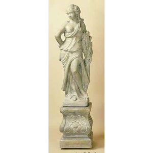 Summer Season Garden Statue with Pedestal FREE SHIPPING