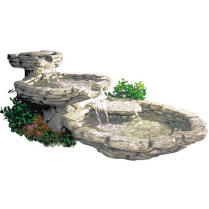 Large Cascade Water Fountain, 72 inches D x 64 inches W x 33 inches H FREE SHIPPING