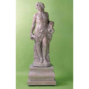 Bacchus God of Wine Huge Statue with Pedestal FREE SHIPPING
