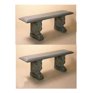 Griffin Garden Bench, 20 inches H x 59 inches L x 17 inches D (each)