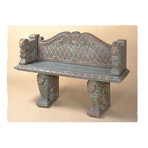 Classic Garden Bench with Back
