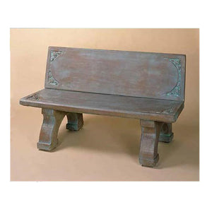 Big cement bench with back for sale