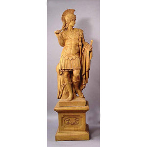Roman Soldier and Warrior Princess Huge Statues with Pedestals, FREE SHIPPING