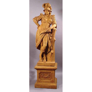Warrior Princess Huge Statue with Pedestal FREE SHIPPING