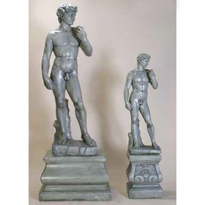 Davids set of two European Sculptures with Pedestals FREE SHIPPING