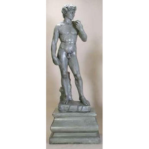 David Huge Sculpture with Pedestal FREE SHIPPING