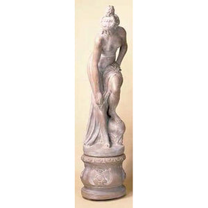 Nude Bather Big Lady Garden Statue with Pedestal FREE SHIPPING