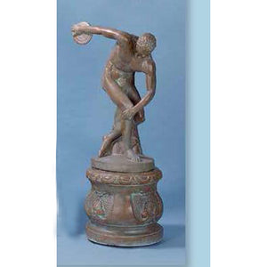 Disc Thrower Concrete Garden Statue with Pedestal FREE SHIPPING